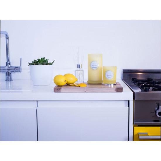 Shearer Candles Μικρό Αρωματικό Κερί Lemon Zest - Silver - Yellow - SC0465