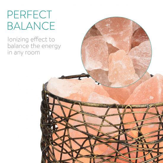 Navaris Himalayan Crystal Salt Chunk Φωτιστικό με Κρυστάλλους Αλατιού και Dimmer - Orange - 46589.01