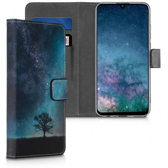 KW Huawei P Smart 2019 Θήκη Πορτοφόλι Stand - Design Cosmic Nature - Multicolor - 47395.02