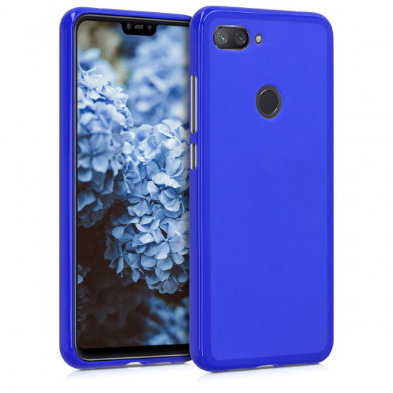 KW Xiaomi Mi 8 Lite Θήκη Σιλικόνης TPU - Royal Blue - 46451.134