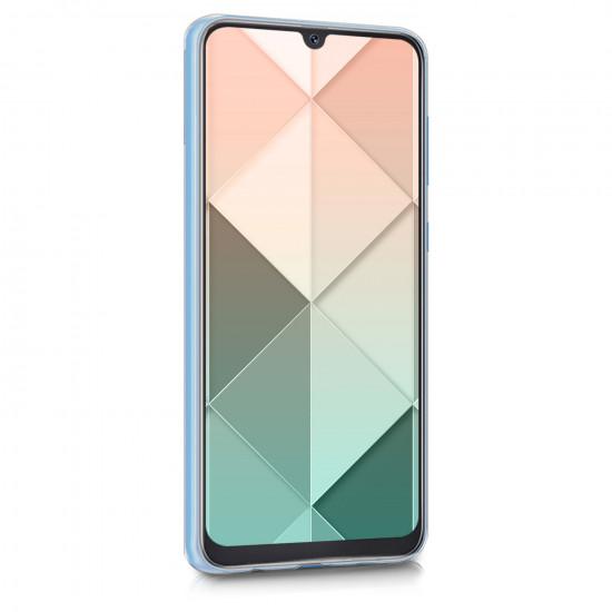 KW Samsung Galaxy A50 / A30S Θήκη Σιλικόνης TPU Design Patchwork Triangles - Rose Gold / White - 48061.02