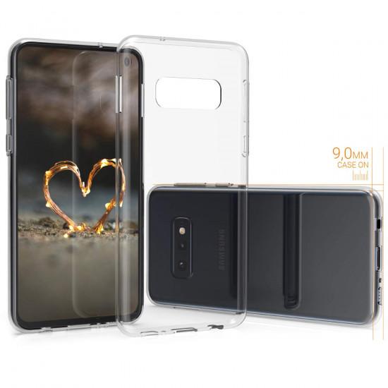 KW Samsung Galaxy S10e Θήκη Σιλικόνης - Διάφανη - 47573.03