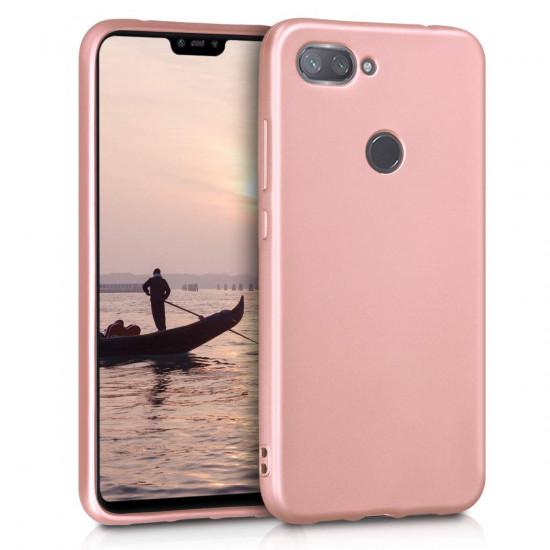 KW Xiaomi Mi 8 Lite Θήκη Σιλικόνης TPU - Metallic Rose Gold - 47930.31