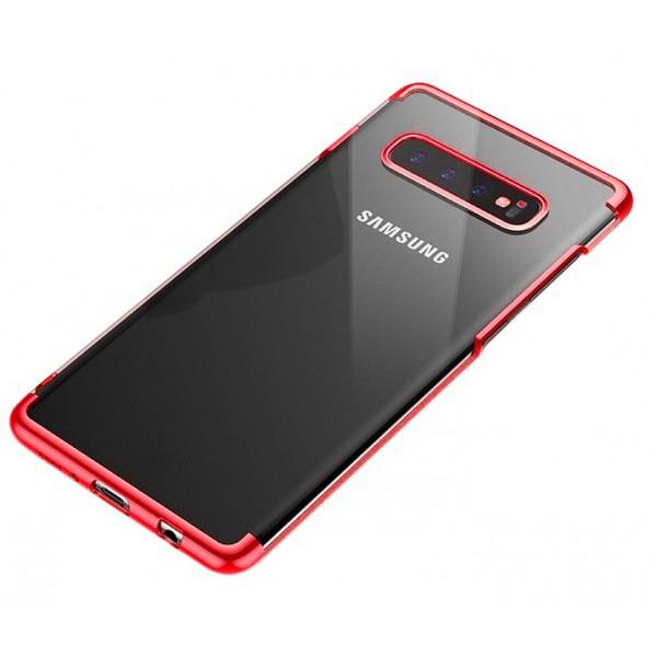 OEM Samsung Galaxy S10 Plus Electroplating Θήκη Σιλικόνης TPU - Red - Διάφανη