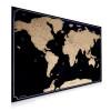 Navaris Scratch Off Μεγάλη Αφίσα με τον Παγκόσμιο Χάρτη - Περιλαμβάνει την Ξύστρα - 82 x 59 cm - Black - 47795.01