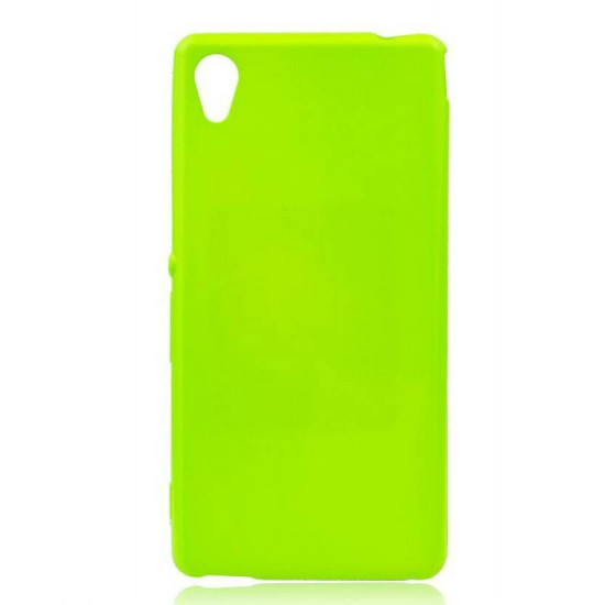 Forcell Jelly Premium Flash Slim Case for Sony Xperia M4 Aqua – Lime