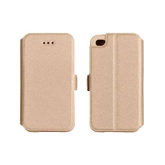 TelOne Book Pocket Stand Case for HTC Desire 820 / 820 Dual - Gold