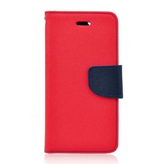 Forcell Fancy Diary Stand Case for Lenovo Vibe X3 - Red / Navy